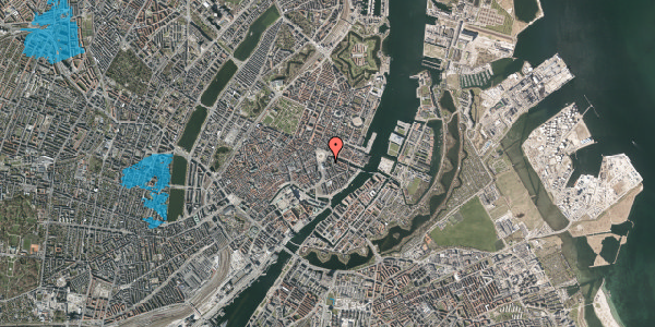 Oversvømmelsesrisiko fra vandløb på August Bournonvilles Passage 1B, 1055 København K