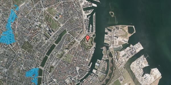 Oversvømmelsesrisiko fra vandløb på Kastellet 50, 2100 København Ø