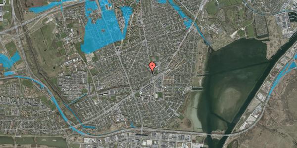 Oversvømmelsesrisiko fra vandløb på Achilles Alle 14A, 2650 Hvidovre