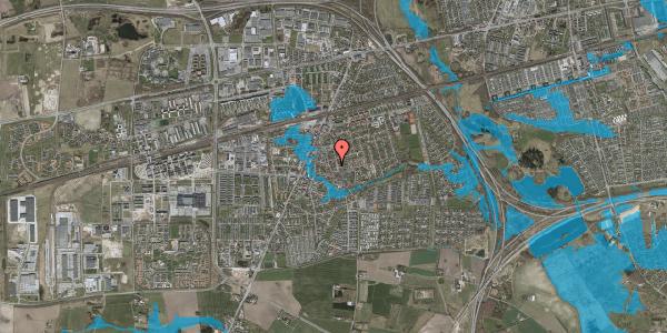 Oversvømmelsesrisiko fra vandløb på Elme Alle 42D, 2630 Taastrup