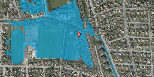 Oversvømmelsesrisiko fra vandløb på Rødhalsgangen 20, 2400 København NV