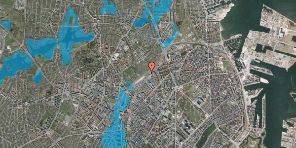Oversvømmelsesrisiko fra vandløb på Rovsingsgade 62B, 2100 København Ø