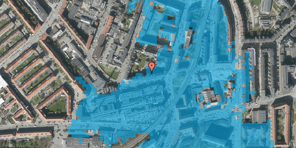 Oversvømmelsesrisiko fra vandløb på Glentevej 10, 3. 5, 2400 København NV