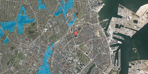 Oversvømmelsesrisiko fra vandløb på Kristineberg 3B, 1. , 2100 København Ø