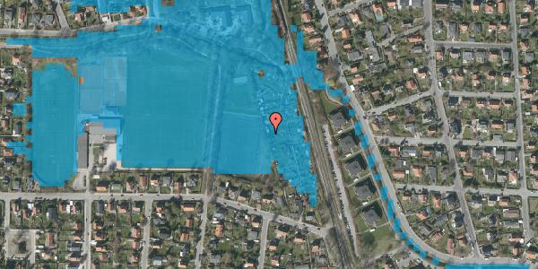 Oversvømmelsesrisiko fra vandløb på Rødhalsgangen 25, 2400 København NV
