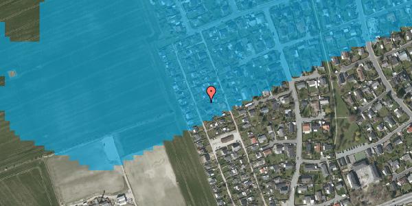 Oversvømmelsesrisiko fra vandløb på Hf. Dahlia 71, 2650 Hvidovre