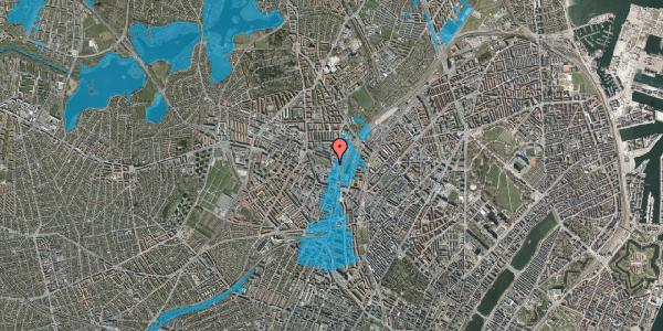 Oversvømmelsesrisiko fra vandløb på Rebslagervej 10, st. 14, 2400 København NV