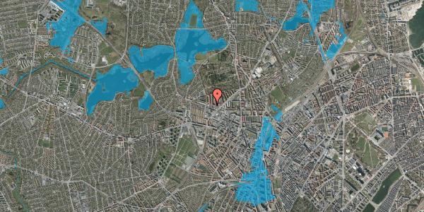 Oversvømmelsesrisiko fra vandløb på Dortheavej 42A, 2400 København NV