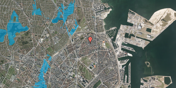 Oversvømmelsesrisiko fra vandløb på Drejøgade 38, 1. tv, 2100 København Ø