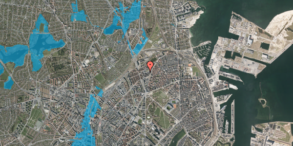 Oversvømmelsesrisiko fra vandløb på Æbeløgade 6, 2100 København Ø