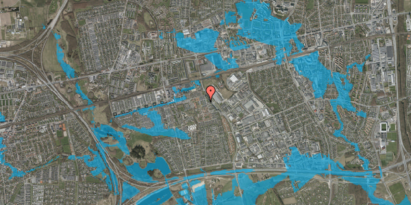 Oversvømmelsesrisiko fra vandløb på Grønkløvervænget 22, 2625 Vallensbæk