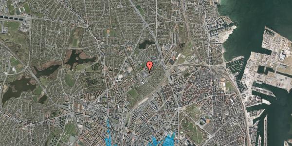 Oversvømmelsesrisiko fra vandløb på Fruebjergvej 3, 2100 København Ø