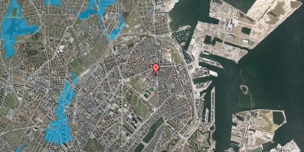 Oversvømmelsesrisiko fra vandløb på Marskensgade 25A, st. , 2100 København Ø