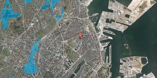 Oversvømmelsesrisiko fra vandløb på Marskensgade 27A, kl. , 2100 København Ø