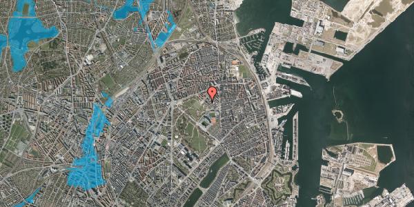 Oversvømmelsesrisiko fra vandløb på Serridslevvej 14A, kl. , 2100 København Ø