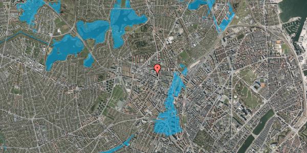 Oversvømmelsesrisiko fra vandløb på Rentemestervej 40B, 4. 2, 2400 København NV