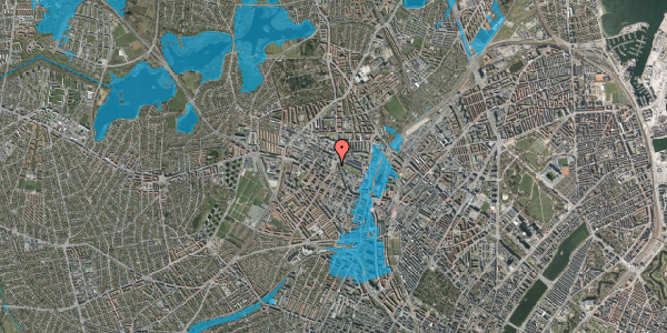 Oversvømmelsesrisiko fra vandløb på Glasvej 21, 2400 København NV