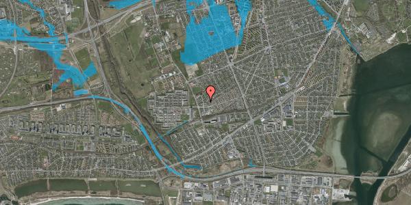 Oversvømmelsesrisiko fra vandløb på Mellemvangsvej 44, 2650 Hvidovre