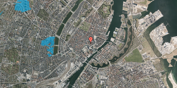Oversvømmelsesrisiko fra vandløb på Fortunstræde 7, 2. , 1065 København K