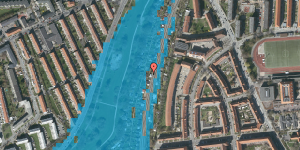 Oversvømmelsesrisiko fra vandløb på Hf. Grænsen 35, 2000 Frederiksberg