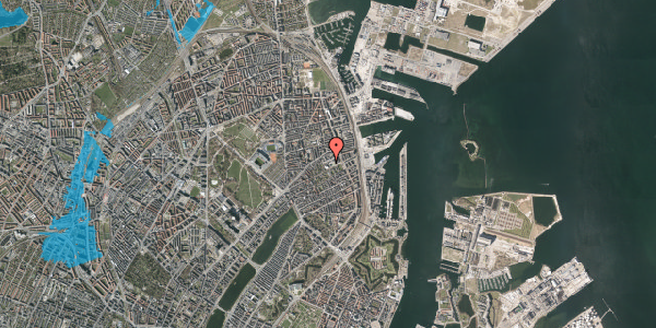 Oversvømmelsesrisiko fra vandløb på Rosenvængets Hovedvej 35, st. , 2100 København Ø