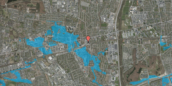 Oversvømmelsesrisiko fra vandløb på Glostrup Shoppingcenter 73, st. , 2600 Glostrup