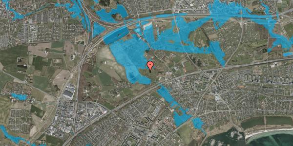 Oversvømmelsesrisiko fra vandløb på Lundbækvej 33, 2625 Vallensbæk