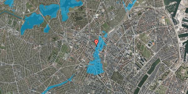 Oversvømmelsesrisiko fra vandløb på Drejervej 8F, 2400 København NV