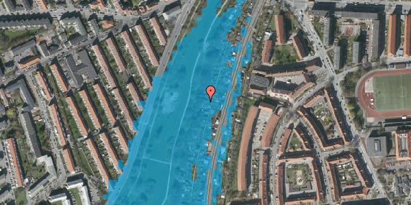 Oversvømmelsesrisiko fra vandløb på Hf. Grænsen 28A, 2000 Frederiksberg