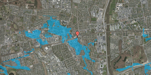 Oversvømmelsesrisiko fra vandløb på Banegårdspladsen 9, st. , 2600 Glostrup
