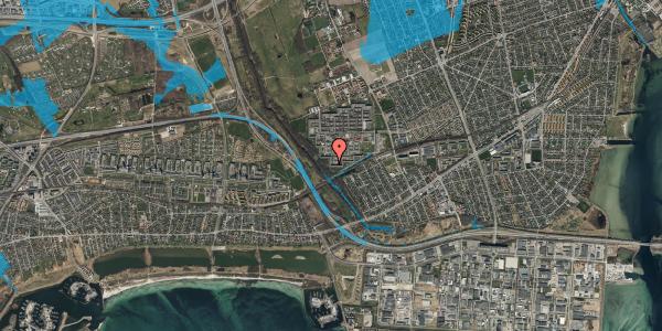 Oversvømmelsesrisiko fra vandløb på Bymuren 57A, 1. 3, 2650 Hvidovre