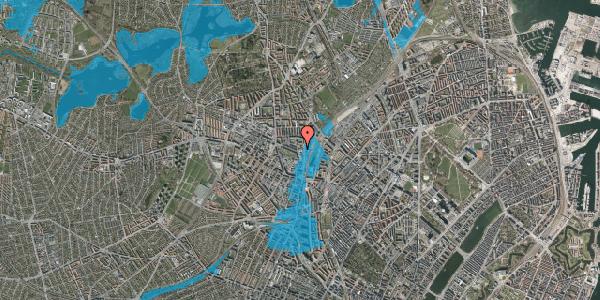 Oversvømmelsesrisiko fra vandløb på Bygmestervej 61, 2400 København NV