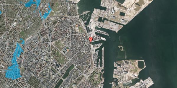 Oversvømmelsesrisiko fra vandløb på Østbanegade 127, 2100 København Ø