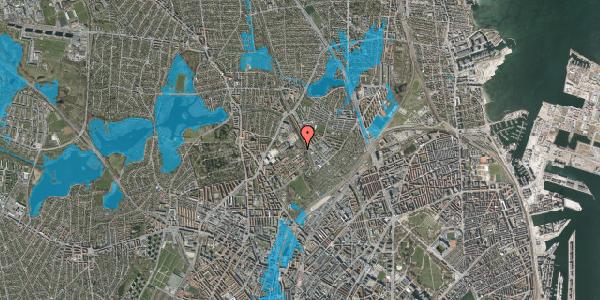 Oversvømmelsesrisiko fra vandløb på Bispebjerg Bakke 30, 2400 København NV