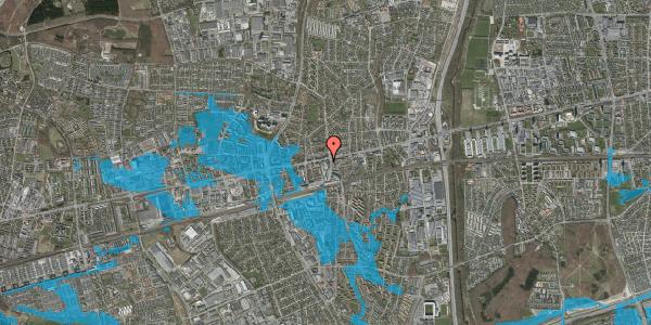 Oversvømmelsesrisiko fra vandløb på Glostrup Shoppingcenter 38, st. , 2600 Glostrup