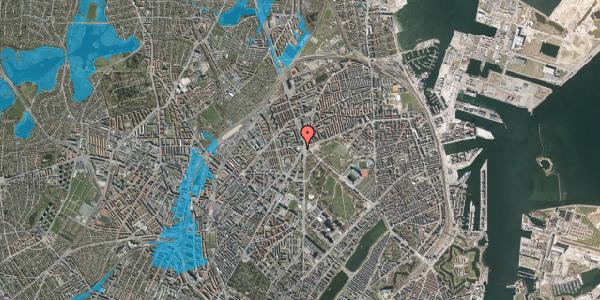Oversvømmelsesrisiko fra vandløb på Jagtvej 171A, 4. tv, 2100 København Ø
