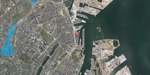 Oversvømmelsesrisiko fra vandløb på Amerika Plads 19A, 2100 København Ø