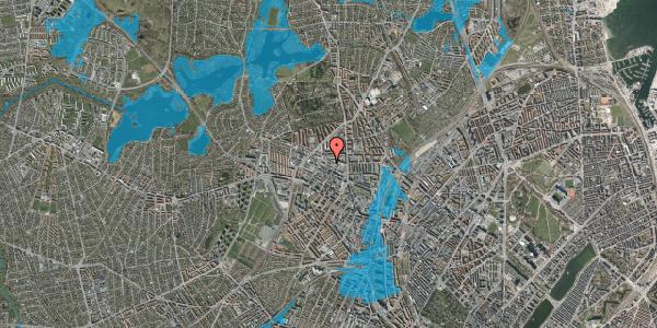 Oversvømmelsesrisiko fra vandløb på Bispevej 14, st. , 2400 København NV