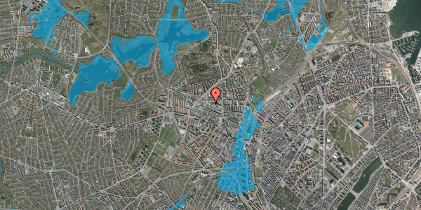 Oversvømmelsesrisiko fra vandløb på Dortheavej 17, 2. 11, 2400 København NV