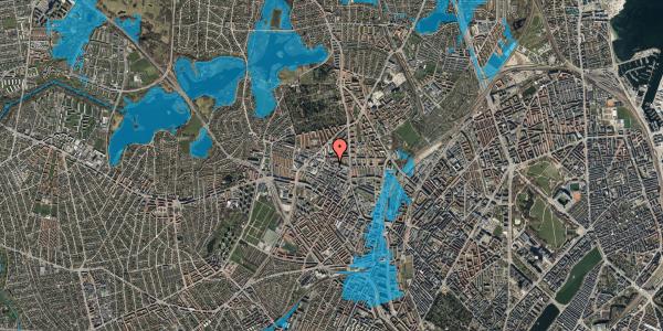 Oversvømmelsesrisiko fra vandløb på Dortheavej 17, 1. 7, 2400 København NV