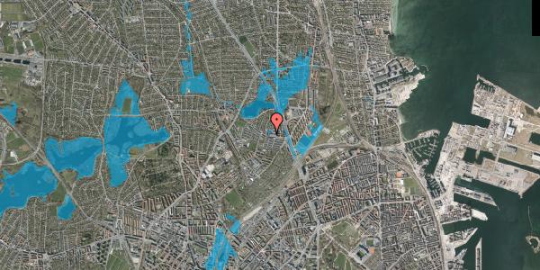 Oversvømmelsesrisiko fra vandløb på Emdrupvej 26A, 1. , 2100 København Ø
