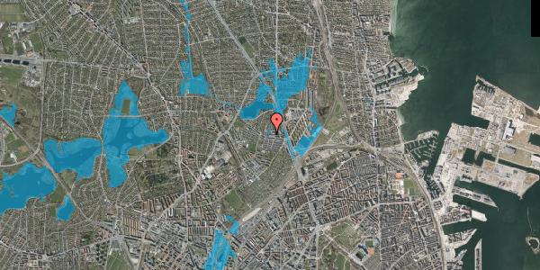 Oversvømmelsesrisiko fra vandløb på Emdrupvej 26D, 1. , 2100 København Ø