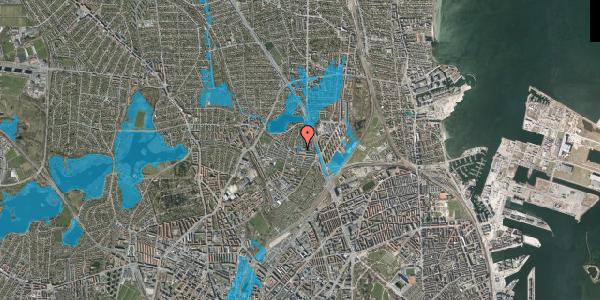 Oversvømmelsesrisiko fra vandløb på Emdrupvej 26E, 1. , 2100 København Ø