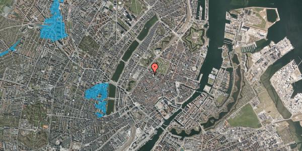 Oversvømmelsesrisiko fra vandløb på Hauser Plads 32A, st. , 1127 København K
