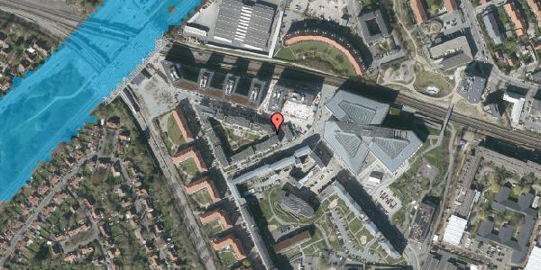 Oversvømmelsesrisiko fra vandløb på Dirch Passers Allé 17, 3. th, 2000 Frederiksberg