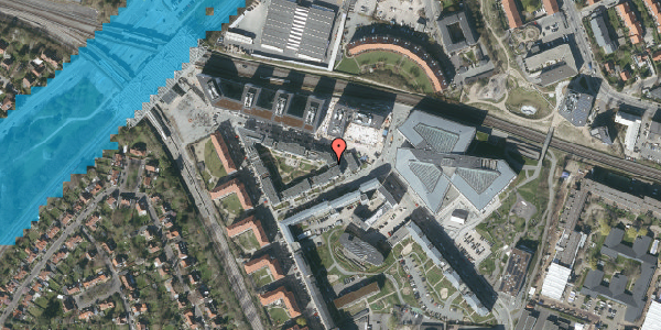 Oversvømmelsesrisiko fra vandløb på Dirch Passers Allé 17, 2. th, 2000 Frederiksberg