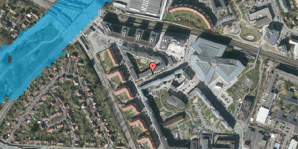 Oversvømmelsesrisiko fra vandløb på Preben Kaas' Vænge 6, 3. th, 2000 Frederiksberg