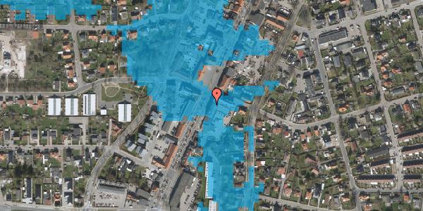 Oversvømmelsesrisiko fra vandløb på Taastrup Hovedgade 111A, 1. 4, 2630 Taastrup
