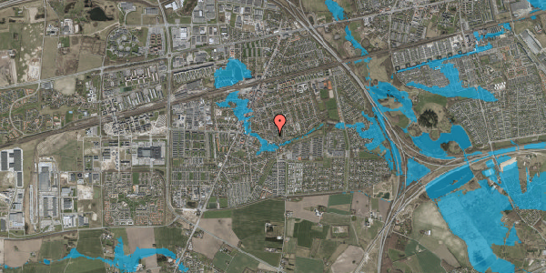 Oversvømmelsesrisiko fra vandløb på Valbyvej 47C, st. 44, 2630 Taastrup