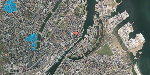 Oversvømmelsesrisiko fra vandløb på Peder Skrams Gade 5, 1. th, 1054 København K